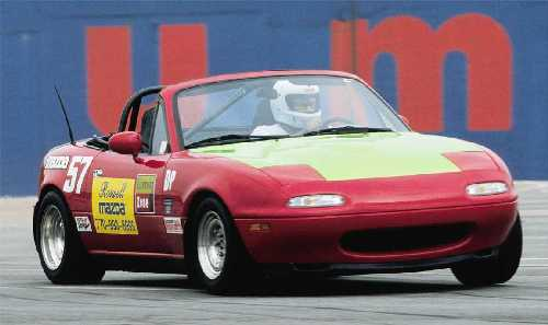 #57 Roswell Mazda Miata. Turner Field-Atlanta Aug 20, 2000 Photo by John Swain